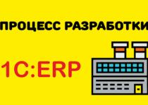 Процесс разработки 1С:ERP.