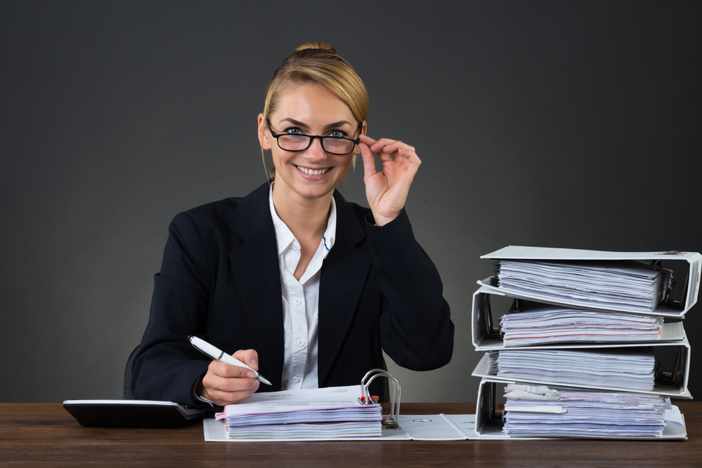 Accountant Wearing Eyeglasses