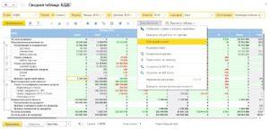 Сводная таблица БДС - Купить решение 1С:ERP. Управление холдингом